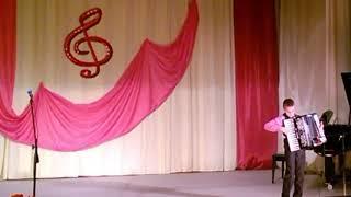 Україна  має таланти Влад Грицун Токмацька музична школа 10.11.2017 Дети Игра на аккордеоне