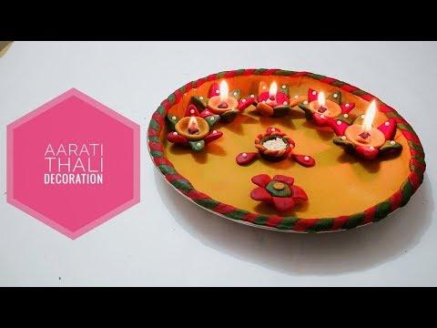 Aarti Thali Decoration with Dough | DIY | #Aarati | Art & Creativity ❤