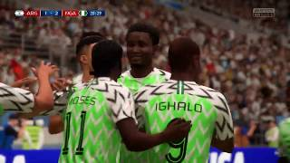WORLD CUP FINAL | ARGENTINA VS NIGERIA | FIFA 18 WORLD CUP HIGHLIGHTS 2018