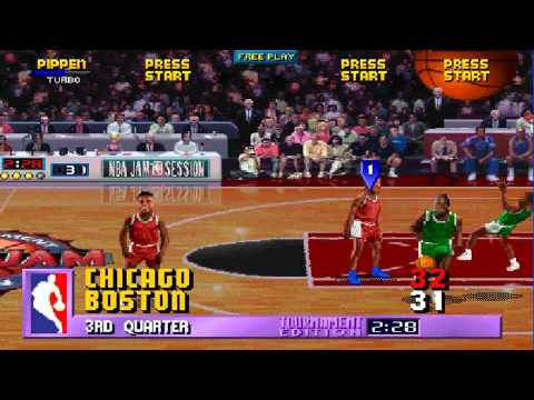 NBA Jam TE ARCADE 1080P HD PLAYTHROUGH - CHICAGO BULLS VS BOSTON CELTICS