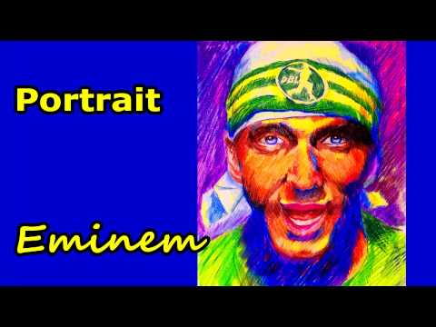 Drawing Eminem Sing For The Moment Portrait
