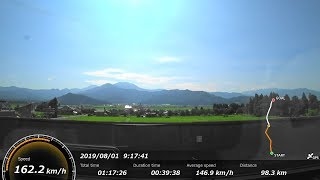[FHD|ac]JR東日本・上越新幹線:高崎→新潟駅間、E4系『Maxとき号』1F-FL席/乗車走行シーン。【車窓・側面展望】