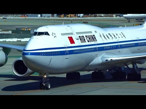 (HD) Watching Airplanes from Terminal 1, San Francisco International Airport Plane Spotting