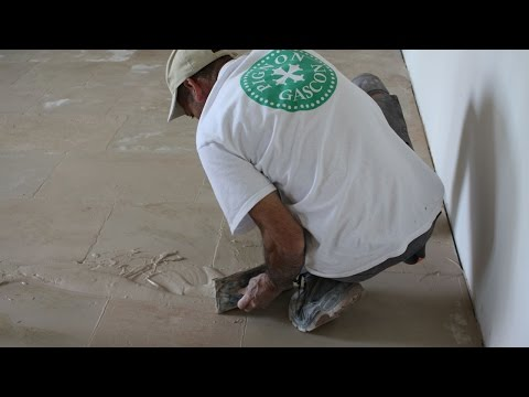 Grouting unfilled Travertine