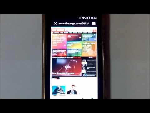 Sony Xperia Sola Android 4.4.2 KitKat