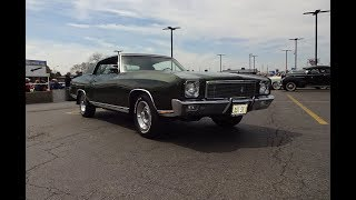 1971 Chevrolet Monte Carlo SS in Antique Green & 454 Engine Sound on My Car Story with Lou Costabile