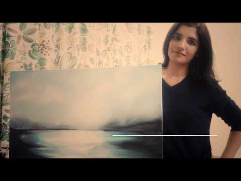 Oil paint Abstract Time lapse - Qatar
