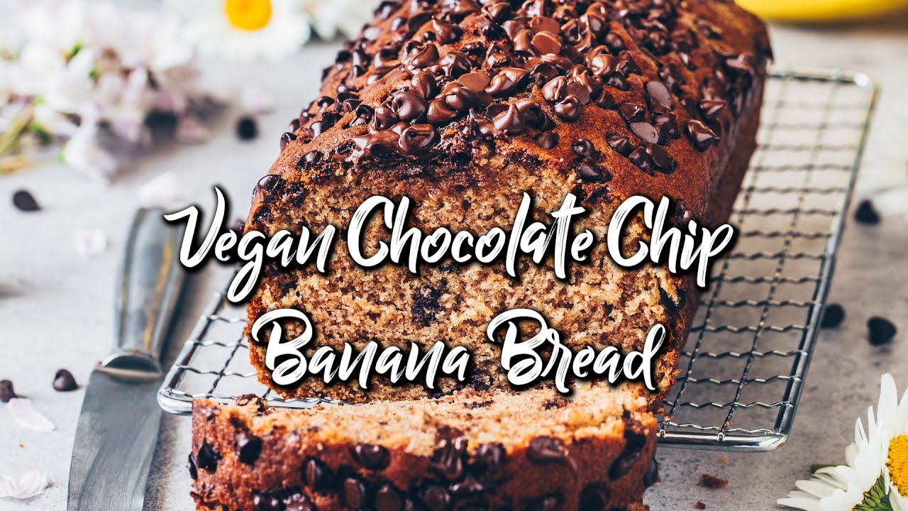 Vegan Chocolate Chip Bananabraed (Easy One-Bowl Recipe) * Recipe