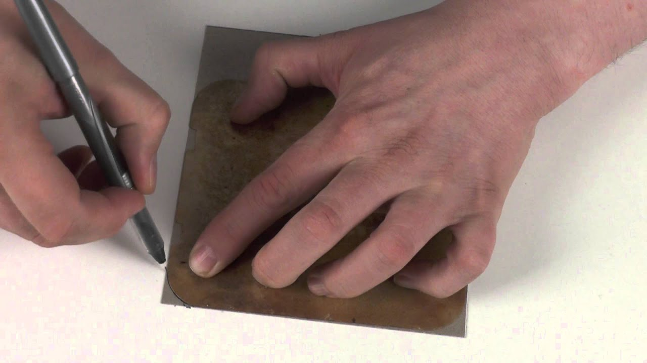 How To Cut A Microwave Wave Guide Cover From Mica Sheet