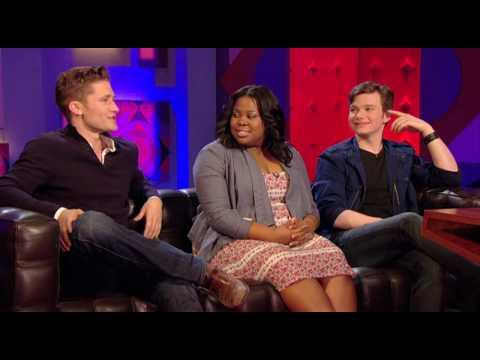 Glee's Matt, Amber and Chris interview on Jonathan Ross Part 1/2