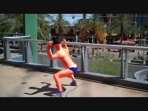 Phoenix Orange Man In RootSuit Spandex Bodysuit 1