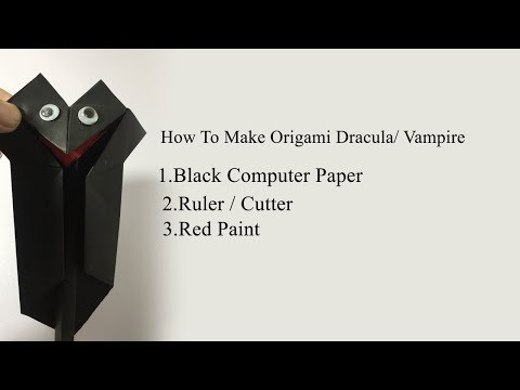 How To Make Origami Dracula / Vampire