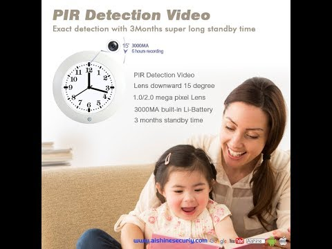 Classic wall clock security camera(AI-DV90)-Demo video