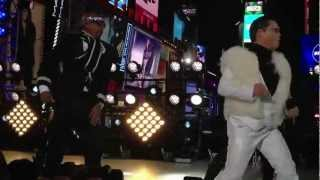 "PSY feat. MC Hammer ""Gangnam Style/Too Legit to Quit"" NYRE Times Square NYE 2013 NYC"