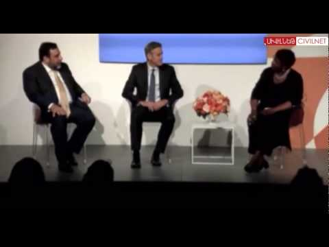 Ruben Vardanyan & George Clooney: Launch of 100 LIVES