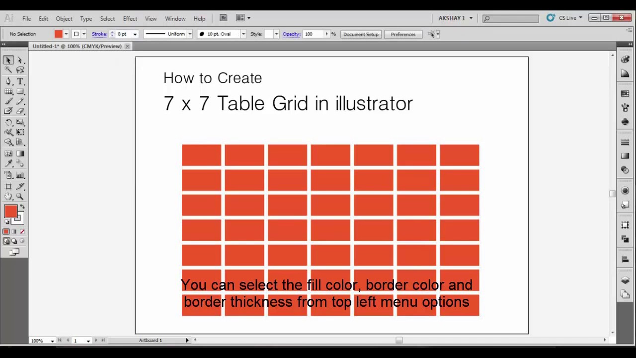 Photoshop Tabelle