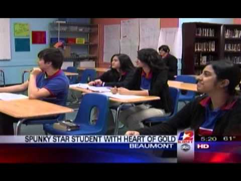 Harmony Science Academy Beaumont - Channel 12 News Story - Star Student Ailes Catedral