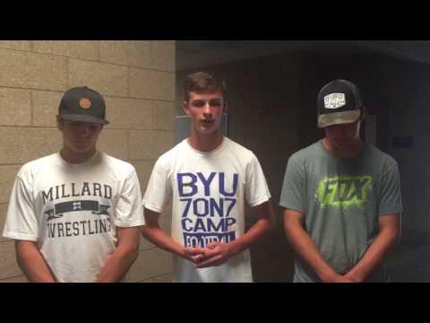 Millard High School football 2017, Slade Sheriff, Jalen Robison, Hunter Gamble