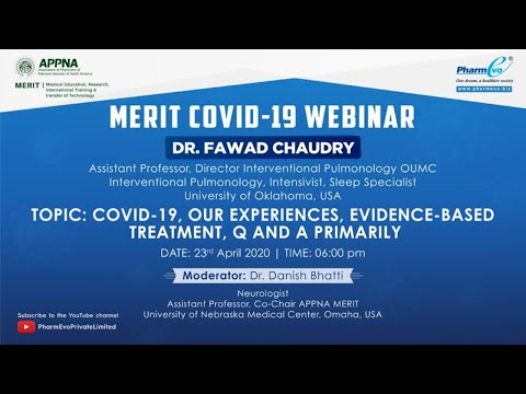 Watch  Dr. Fawad Chaudry On The Topic Of COVID-19 , Our Experience, Evidence Based Treatment , Q & A