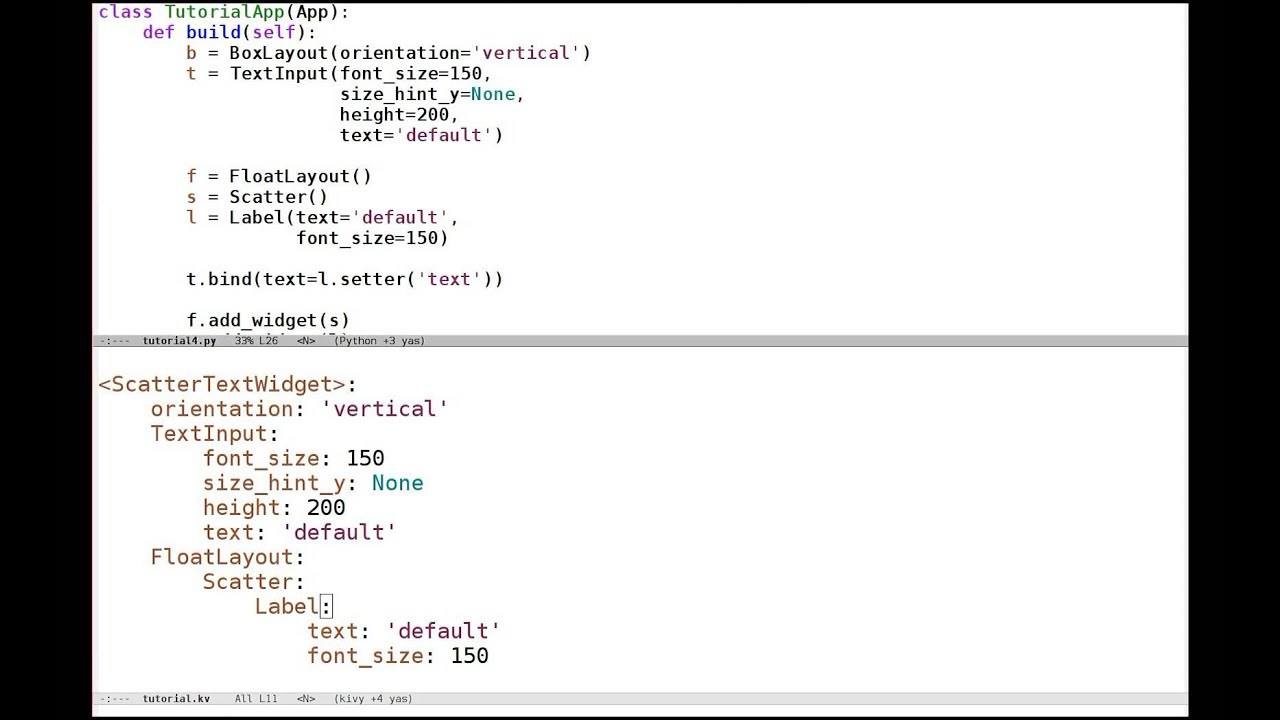 Kivy crash course 5: Mixing python and kivy language