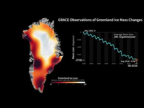 Greenland ice loss 2002-2016