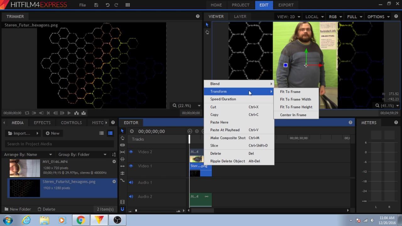 Hitfilm 4 express tutorial 3 fix vertical video youtube hitfilm 4 express tutorial 3 fix vertical video ccuart Images