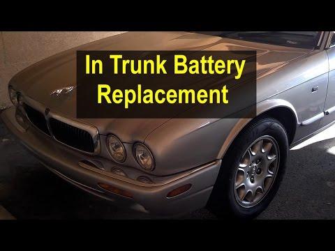Battery replacement, in trunk, Jaguar XJ8 – VOTD