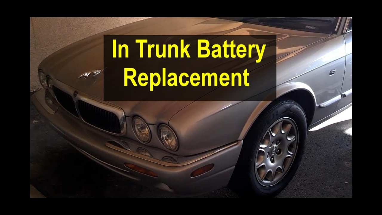 Battery replacement, in trunk, Jaguar XJ8 - VOTD on