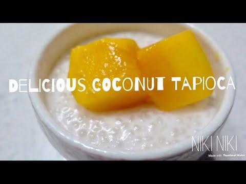 Japanese Mom making Coconut Tapioca in my Kitchen