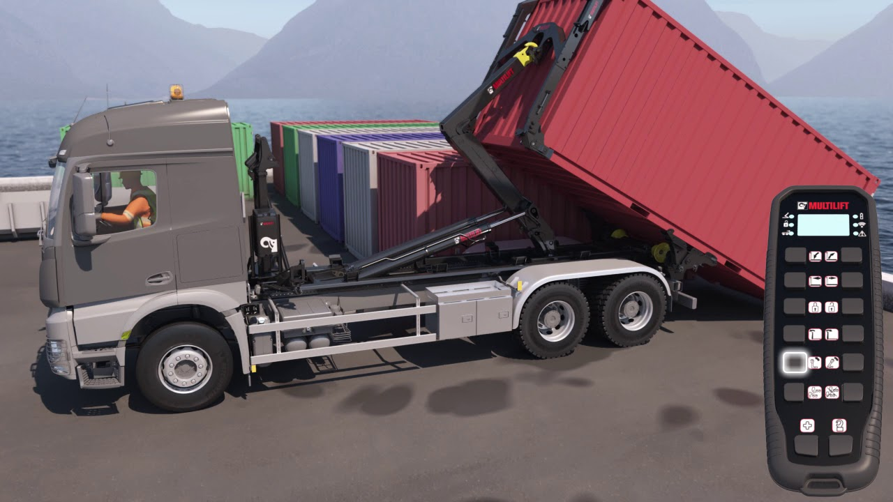 MULTILIFT COMMANDER - ISO Container Handling Unit for hooklift - Short version