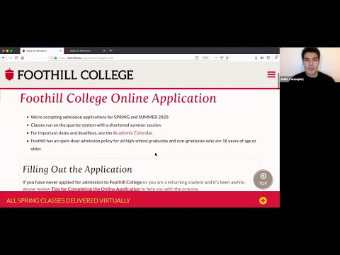 Foothill College Application Tutorial