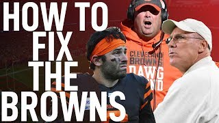 FIXING THE CLEVELAND BROWNS PROBLEMS!!!