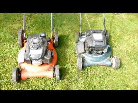 "Craftsman vs: Husqvarna 21"" push lawnmower shootout and review"