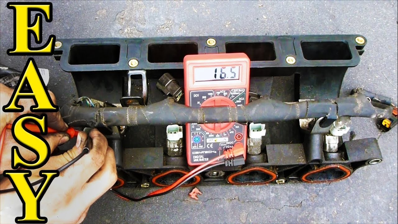 how to check fuel injector resistance with a multimeter [ 1280 x 720 Pixel ]