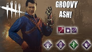 Playing As Ash Williams BUT I'm SUPER GROOVY | Dead By Daylight