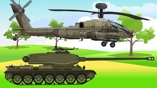 Vehicles & Military Machines, Helicopters, Cars, Tank | Colorful video for Kids | Maszyny Wojskowe