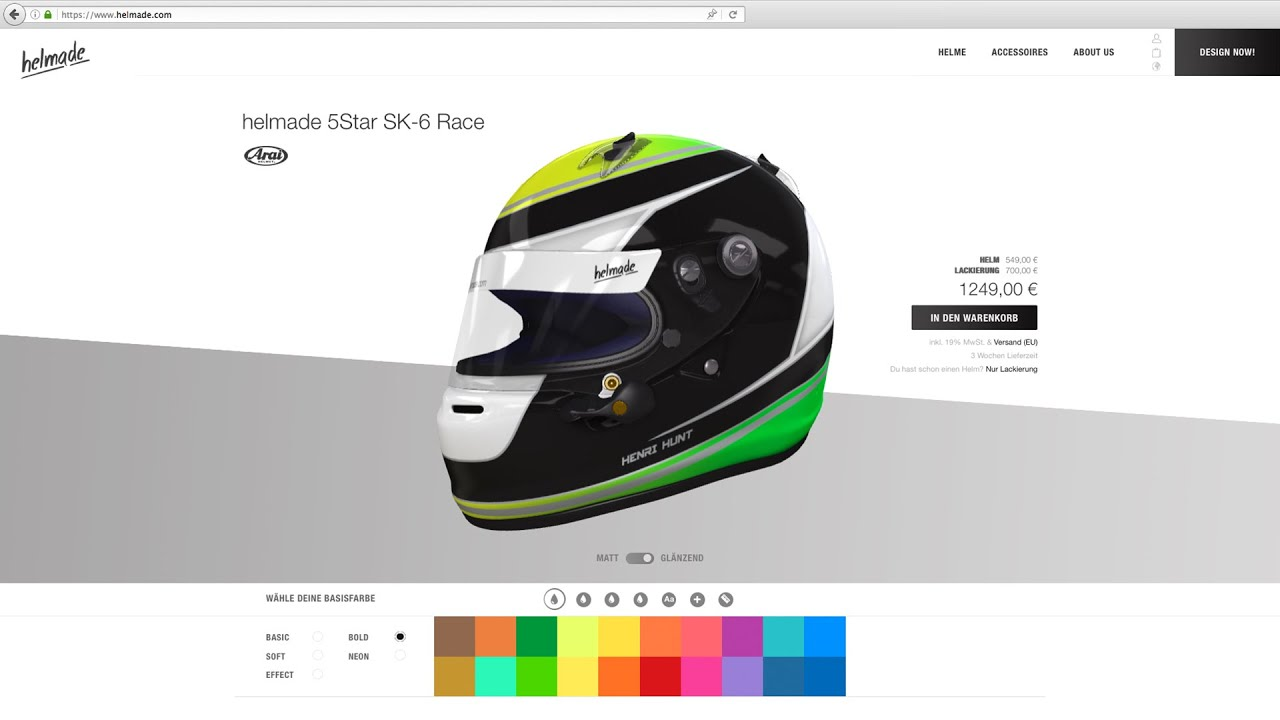 Helmade Design Your Helmet Online In 3d Youtube
