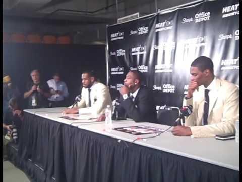 Miami Heat Trio Sharpie Press Conference