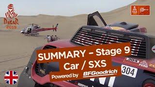 Summary - Car/SxS - Stage 9 (Pisco / Pisco) - Dakar 2019