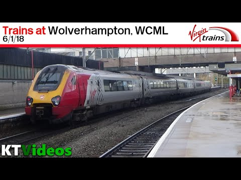 Trains at Wolverhampton, WCML - 6/1/18