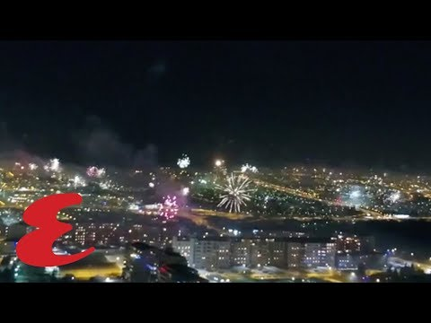 This Drone Captured Fireworks on the 4th of July and It's the Coolest Thing You'll See All Day