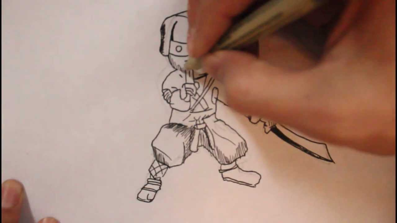 How to draw a kidcartoonmini ninja youtube ccuart Gallery
