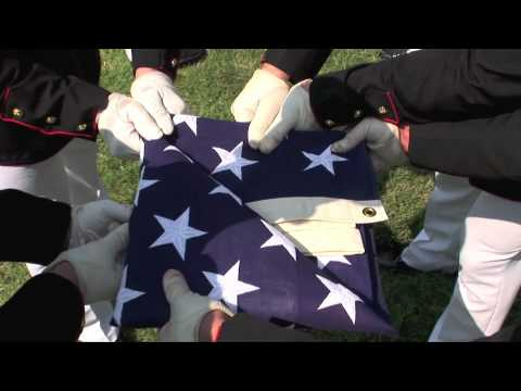 American flag etiquette with the Marines