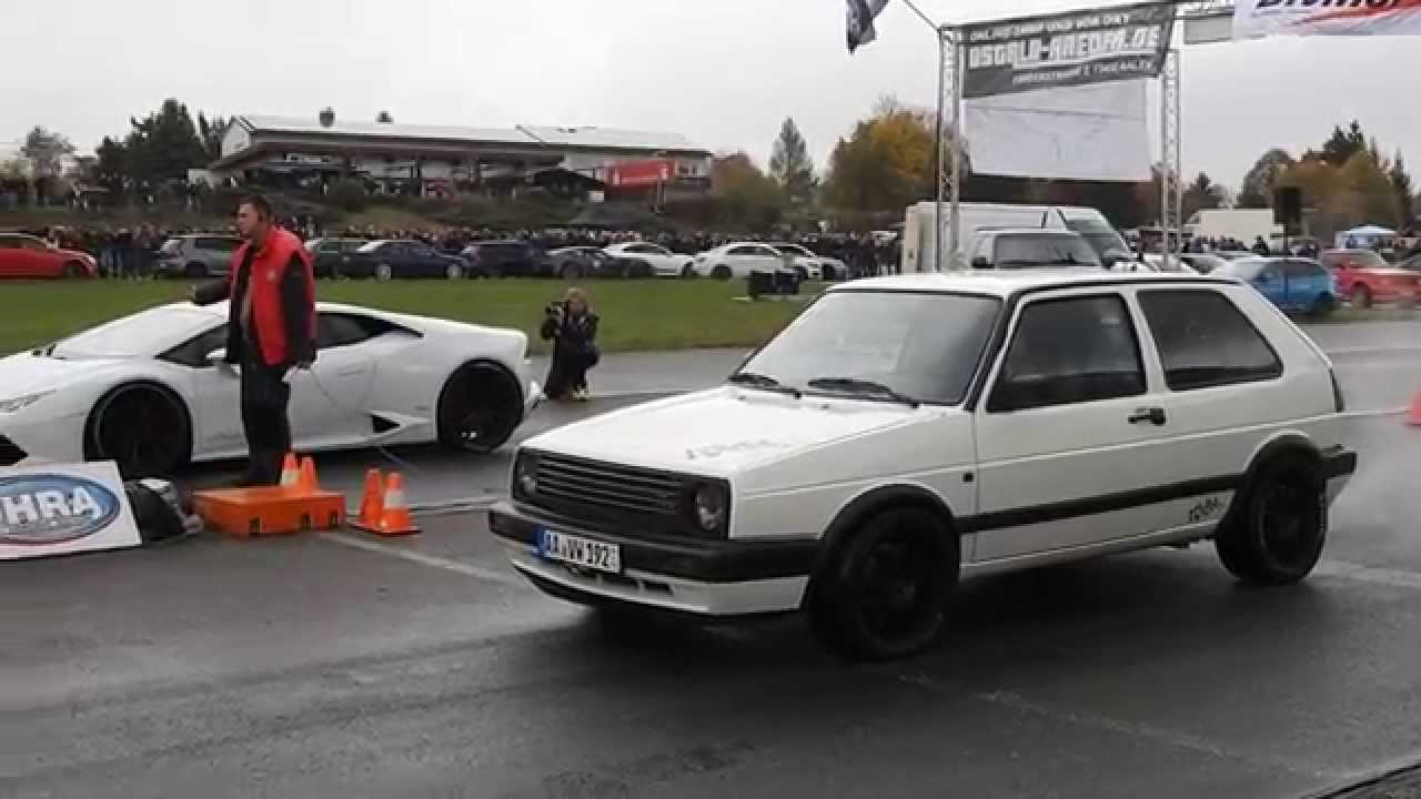 Lamborghini Hurac 225 N Vs Tuned Golf 2 And Vw Scirocco Mk2 Vs Rs6 Youtube