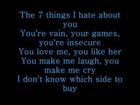 7 things Lyrics