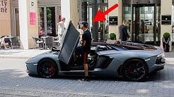Schalke 04 Spieler Amine Harit - Im Lamborghini Aventador Pirelli Edition!
