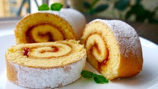 Very Simple Tea Roll Cake