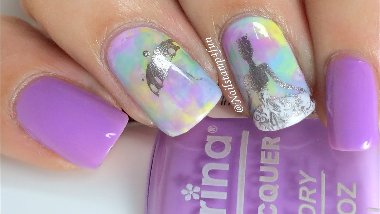 Quinceañera Mani / Sweet Fifteen Mani * Nail Stamping