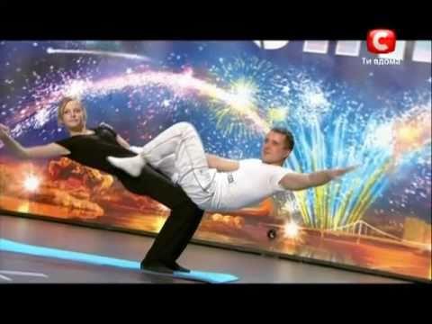 «Україна має талант-3» Львов- Учитель и Ученица (йога) 1ч