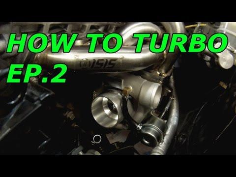 240SX KA24DE Turbo Build EP.2 (Turbo, manifold, Intercooler piping, oil feed)